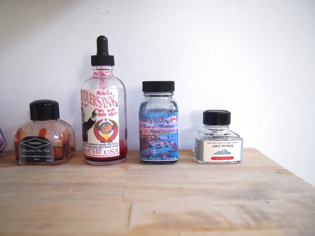 Empty Ink Bottles Fountain Pens wonderpens.ca Wonder Pens Blog Toronto Canada