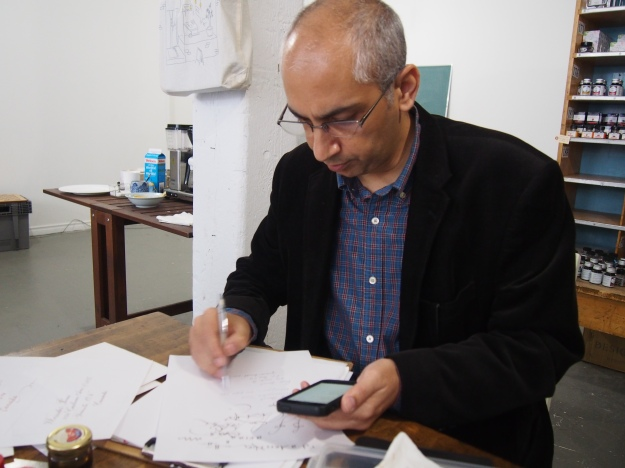 Salman Khattak Calligrapher at Wonder Pens wonderpens.ca Toronto Canada