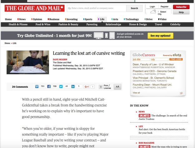 How to Learn Cursive Writing Why to Learn Cursive Handwriting Wonder Pens Blog wonderpens.ca Toronto Canada