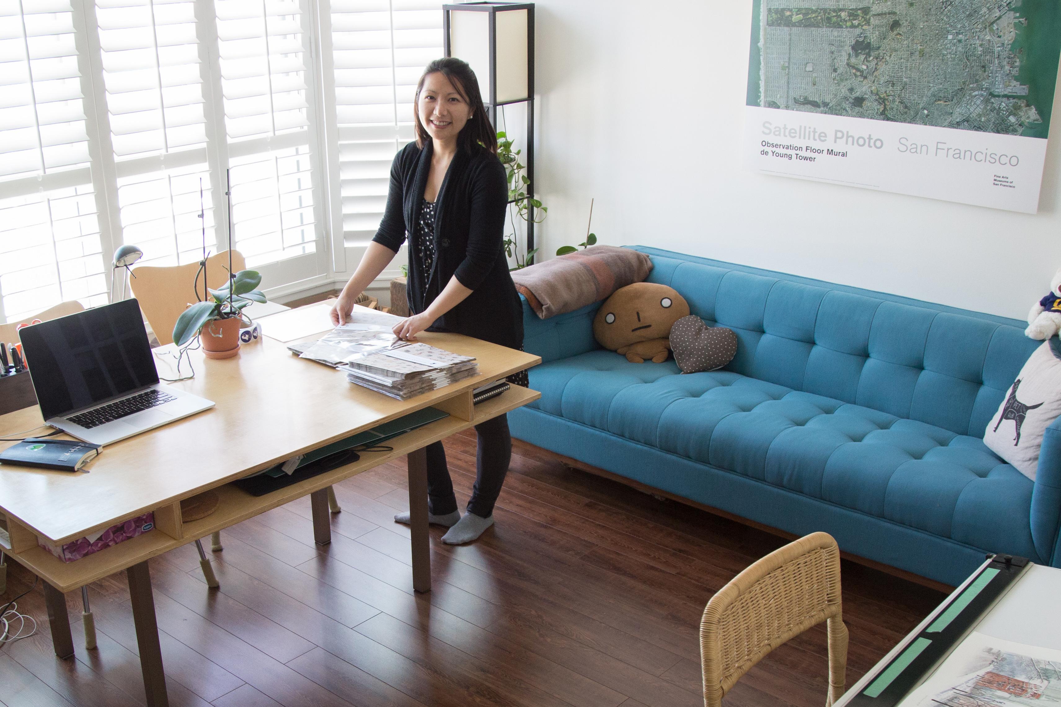 Lichia in her Toronto studio.