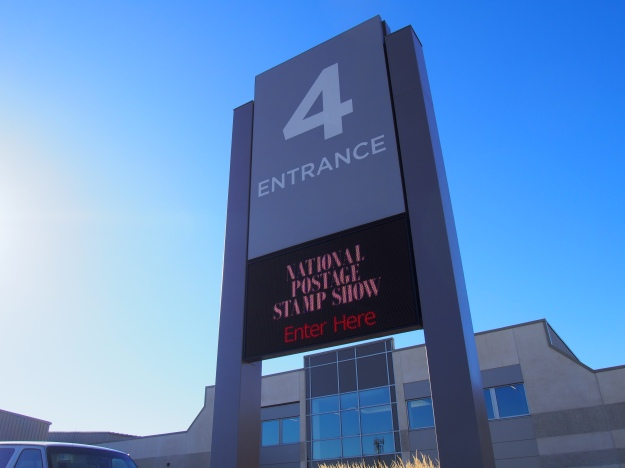 The sign outside the International Centre in Mississauga.