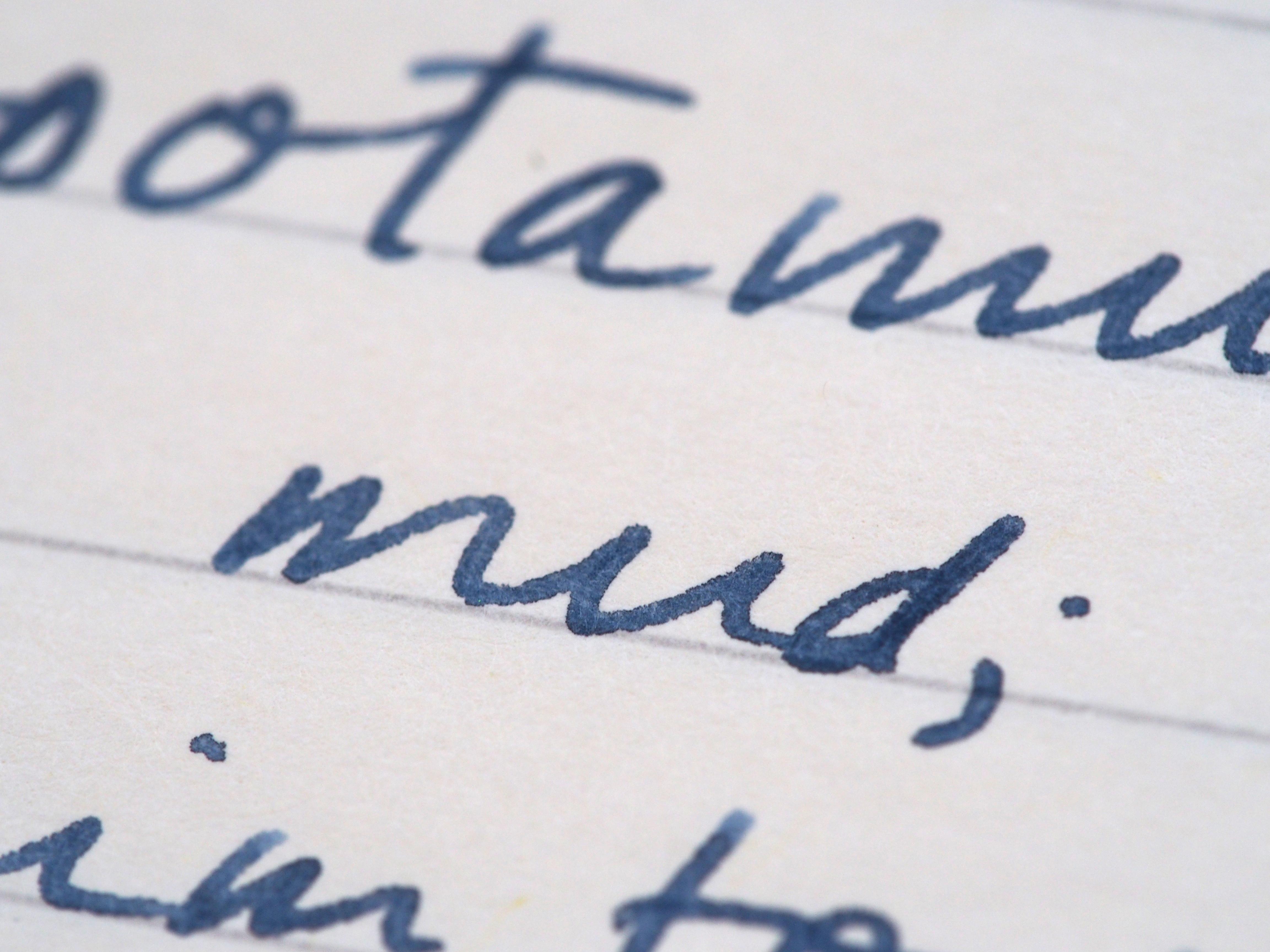 Kaweco Medium Nib Writing Sample Sailor Jentle Blue Fountain Pen