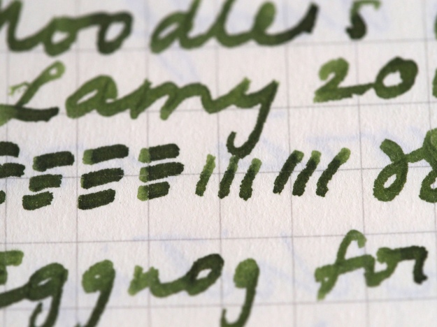 Writing Sample Noodler's Army Green Lamy 2000 OBB Nib Wonder Pens Toronto Canada fountain pens