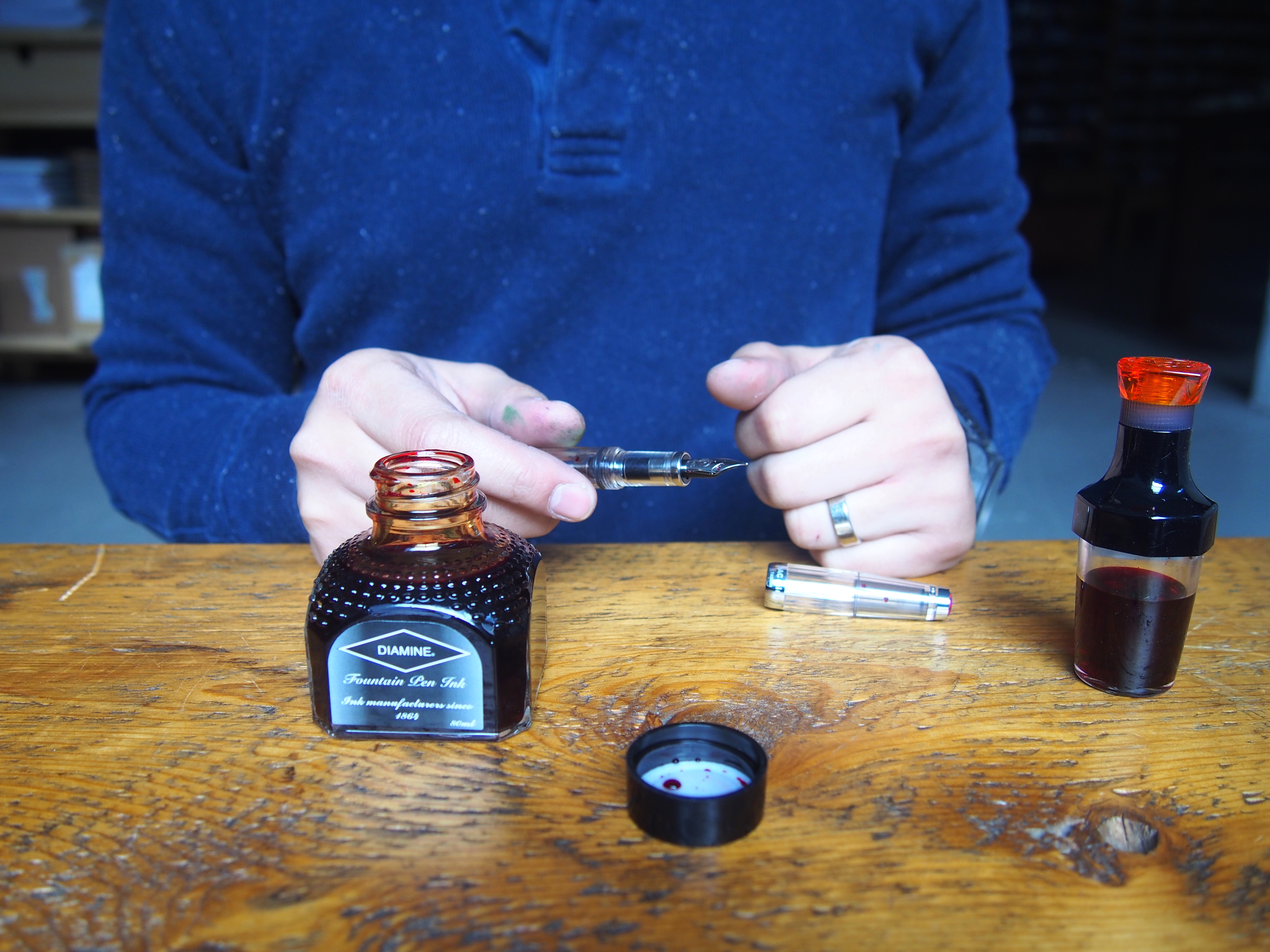 How to use your vac-20 inkwell how to fill TWSBI vac-mini vac-700 fully