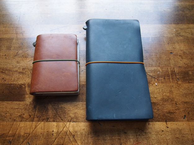 Passport (Old special edition camel, with the original green elastic), and Regular (most recent special edition Blue with a new orange elastic, available in the repair kit).