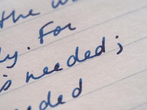 Writing Sample Sailor 1911 14K Medium nib Sailor Sei Boku Wonder Pens wonderpens.ca Toronto Canada