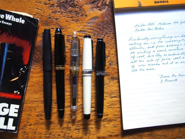 Sailor 1911 Size comparison fountain pens toronto canada