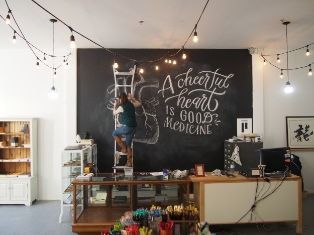 Sarah Kim Calligraphy Chalkboard Artist Wonder Pens wonderpens.ca Toronto Canada