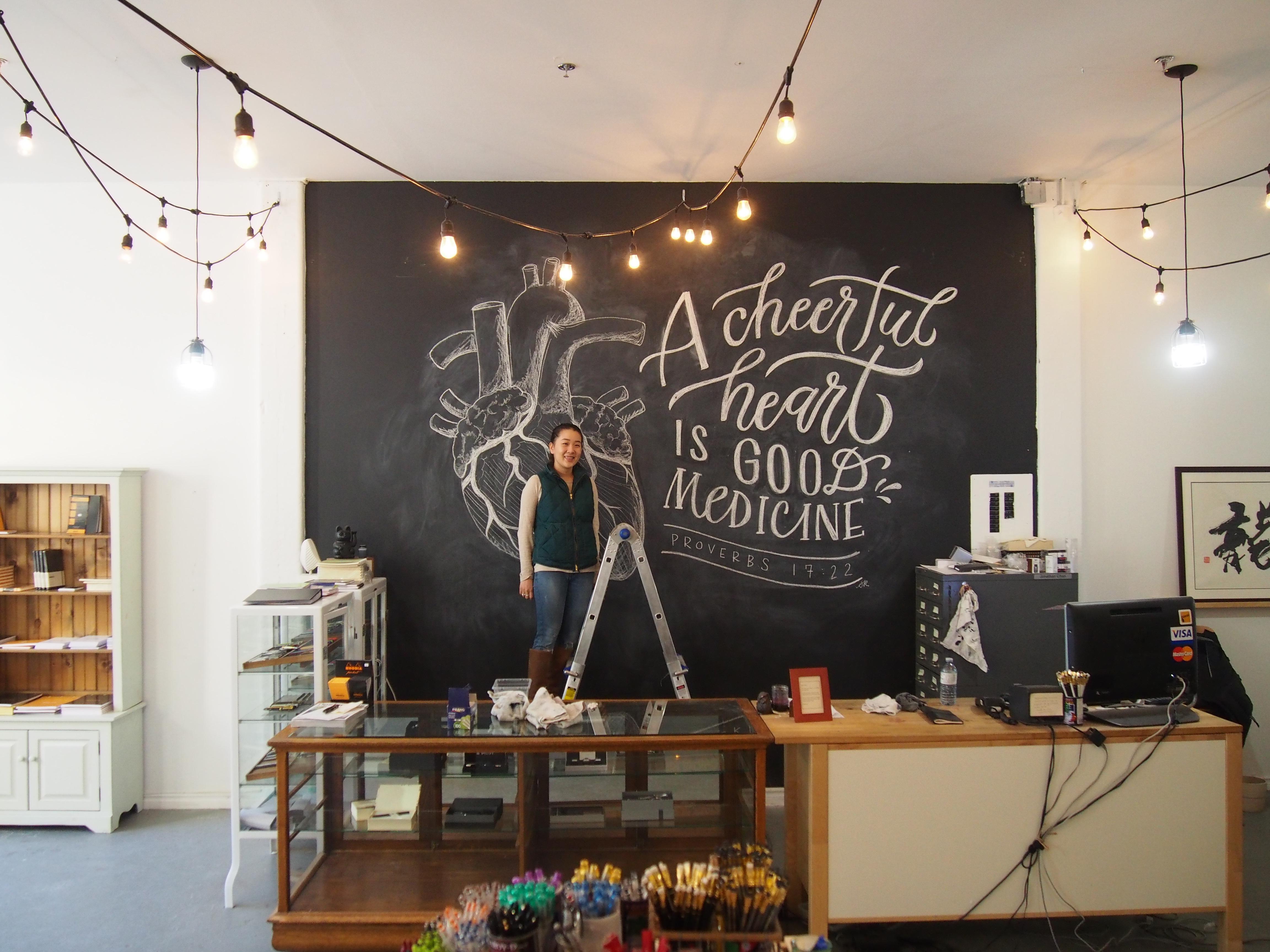 Sarah Kim Calligraphy Wonderpens.ca Wonder Pens Chalkboard Artist